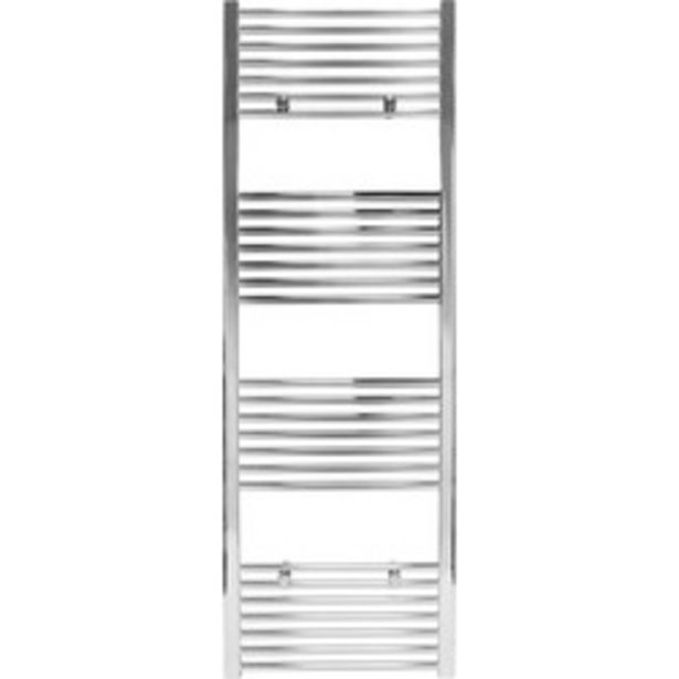 Chrome Flat Towel Radiator                    1600 x 550mm 1881Btu offer at £71.86