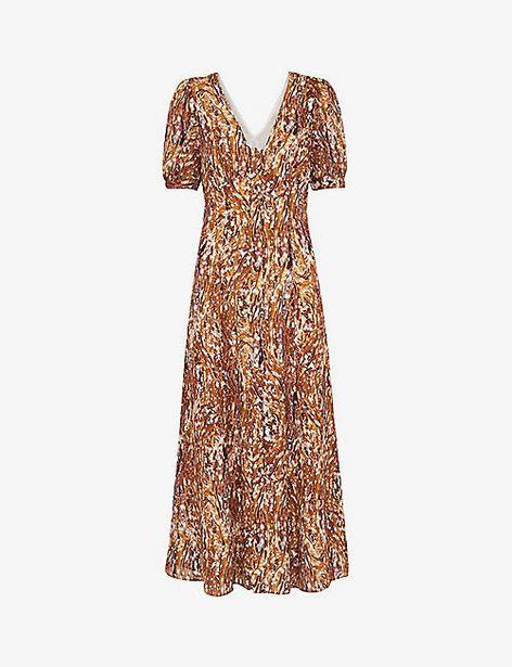 WHISTLES  Marble-print silk midi dress offer at £179