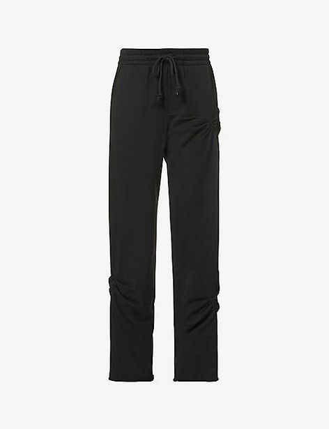 Slim-leg mid-rise cotton-jersey jogging bottoms offer at £50