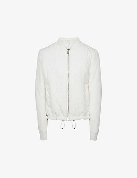 Carla diamond-quilted woven bomber jacket offer at £200
