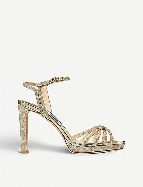 Lilah 100 glittered sandals offer at £337.5