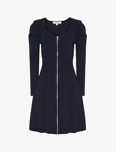 McKenzie zip-front stretch-knit mini dress offer at £135
