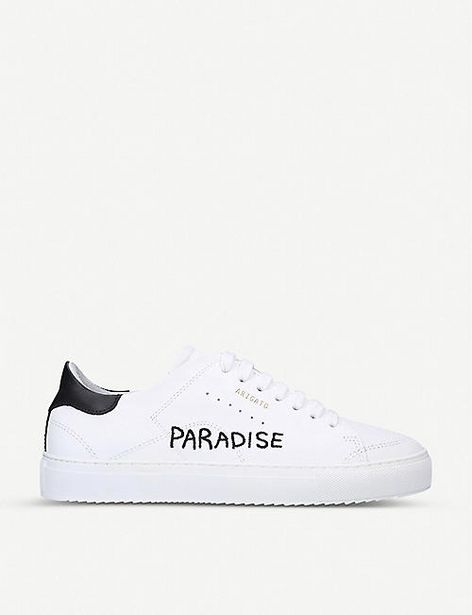 Clean 90 embroidered leather trainers offer at £119