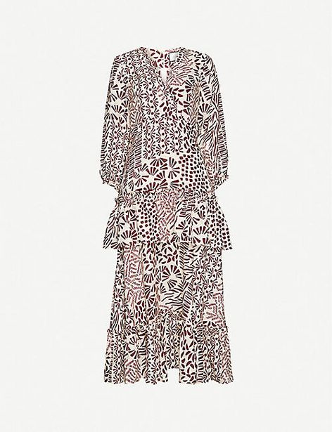 Tereasa graphic-print linen midi dress offer at £190