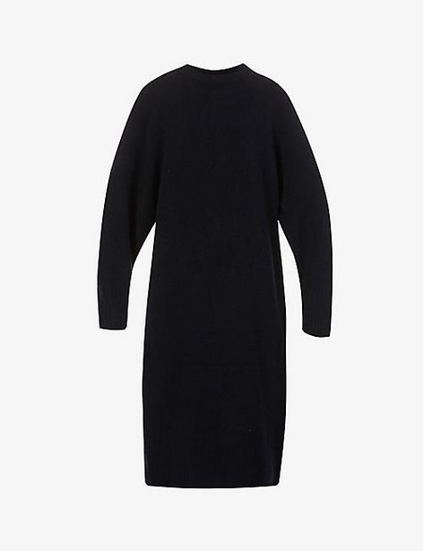 Round-neck knitted midi dress offer at £95
