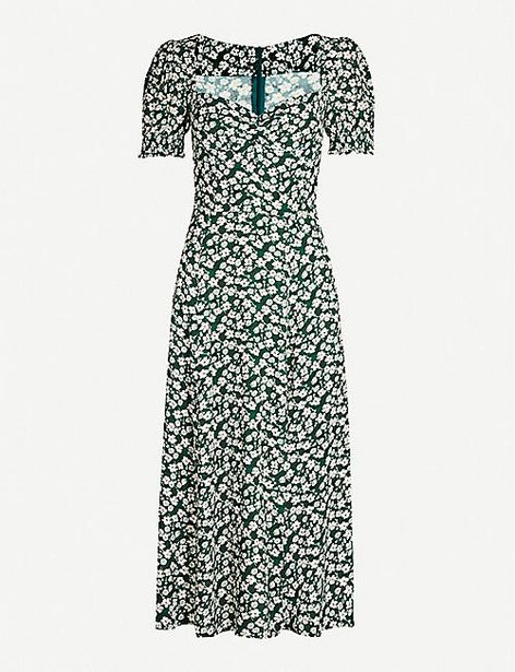 Lacey abstract-print crepe midi dress offer at £40