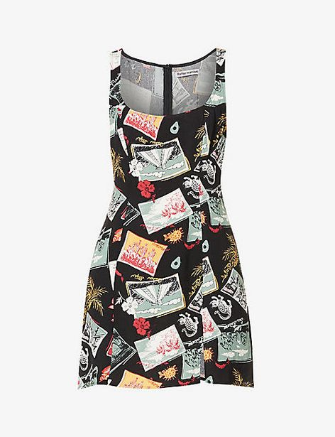 Noha printed crepe mini dress offer at £40