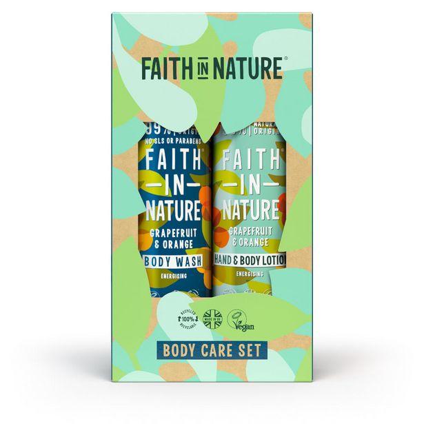 Faith in Nature grapefruit & orange bodywash & lotion set offer at £12