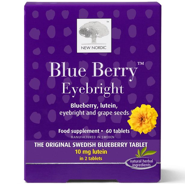 New Nordic blueberry eyebright 60 tablets offer at £19.95