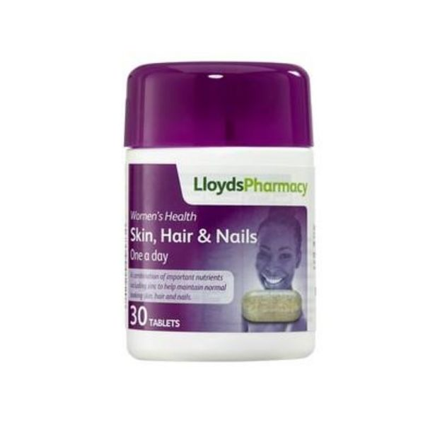 LloydsPharmacy skin, hair & nails 30 tablets offer at £4.55