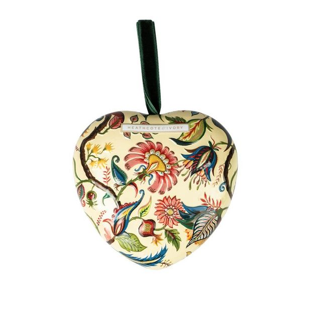 Heathcote & Ivory wild wonder & joy scented soap in heart shaped tin offer at £5.33