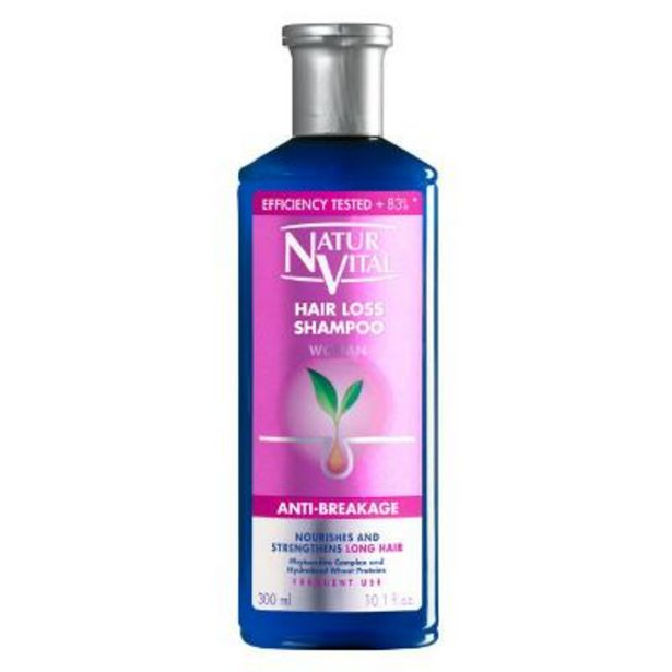 Natur Vital hair loss anti breakage shampoo 300ml offer at £7.49