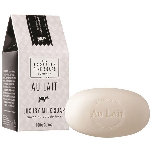 Scottish Fine Soaps au lait luxury hand soap 100g offer at £4.99