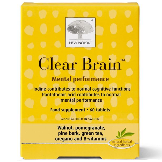 New Nordic clear brain 60 tablets offer at £24.95
