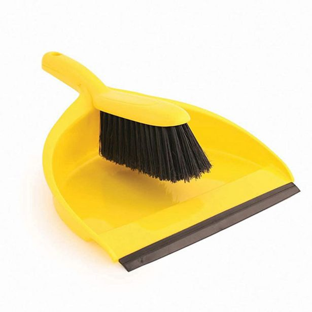 Euro Car Parts Dust Pan And Brush Yellow offer at £3.39