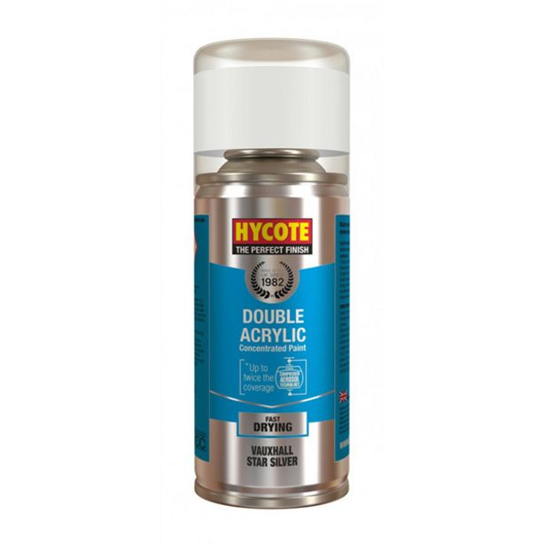 Hycote Vauxhall Star Silver Metallic Spray Paint - 150ml offer at £1.59