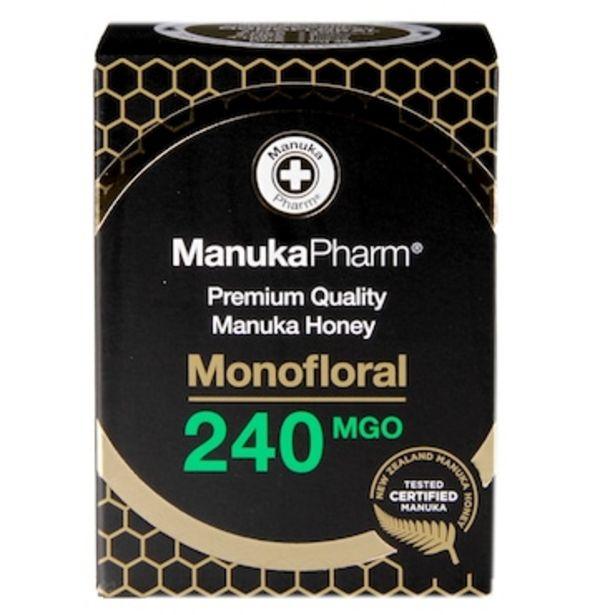 Manuka Pharm Premium Monofloral Manuka Honey MGO 240 250g offer at £25.99