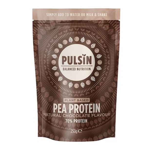 Pulsin Pea and Chocolate Protein Powder 250g offer at £11.24