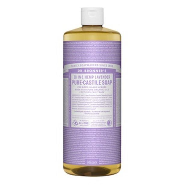 Dr Bronner's Lavender Pure-Castile Liquid Soap 946ml offer at £16.49