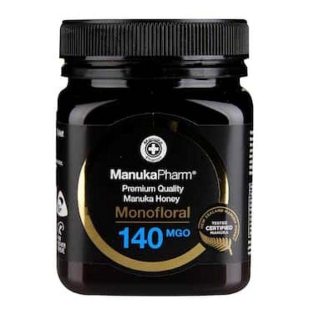 Manuka Pharm Premium Monofloral Manuka Honey MGO 140 250g offer at £22.99