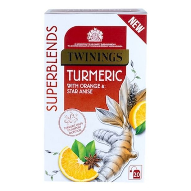Twinings Super Blends Turmeric 49g offer at £2.24