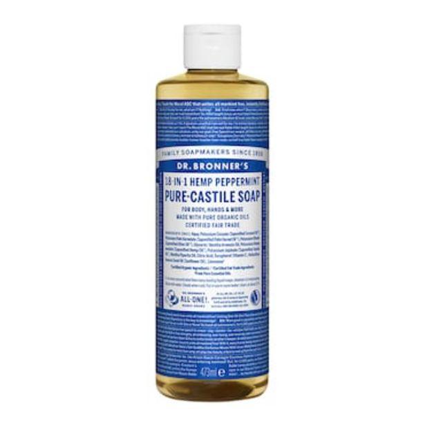 Dr Bronner's Peppermint Pure-Castile Liquid Soap 473ml offer at £10.01