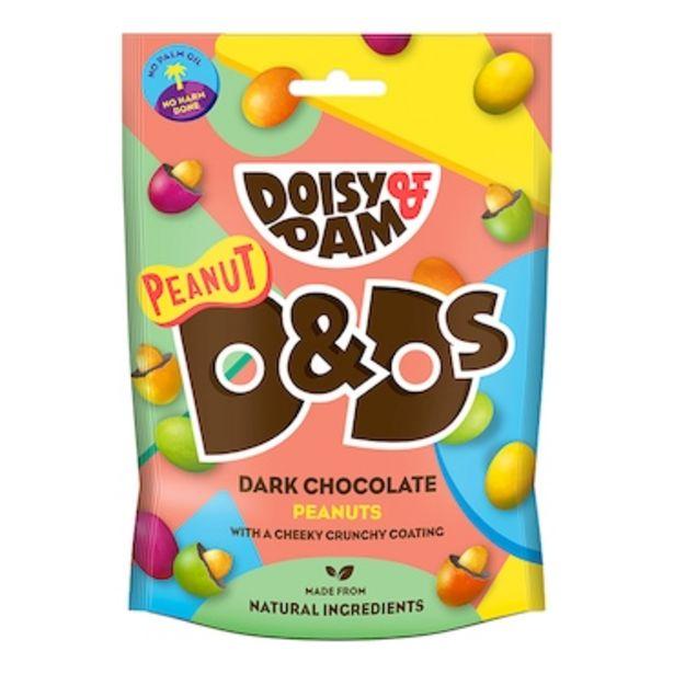 Doisy & Dam Peanut D&Ds Vegan Dark Chocolate 80g offer at £1