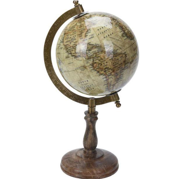 Vintage Style Desktop Globe offer at £17.49