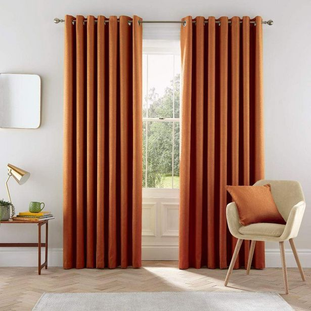 "Helena Springfield Eden Curtains 90"" x 54"" - Ginger offer at £77.5"
