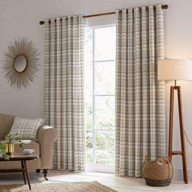 "Helena Springfield Harriet Lined Curtains 90"" x 54"" - Taupe offer at £105"