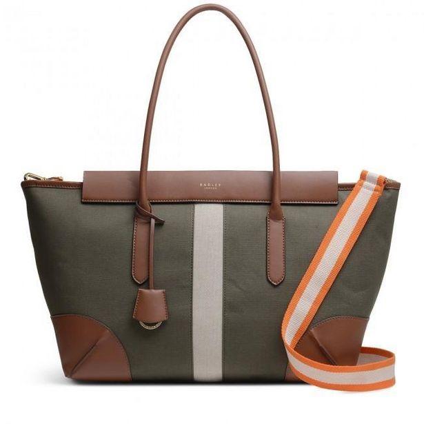 Radley Morris Road Large Zip Top Shoulder Bag - Khaki offer at £135.2