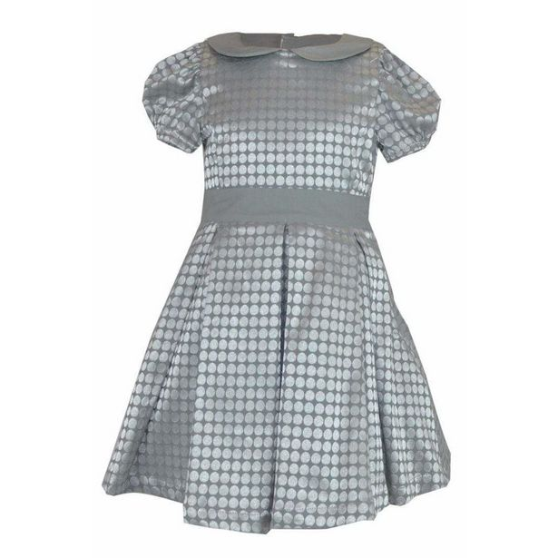 Little Lord and Lady Elizabeth Jacquard Dress - Silver offer at £31.5