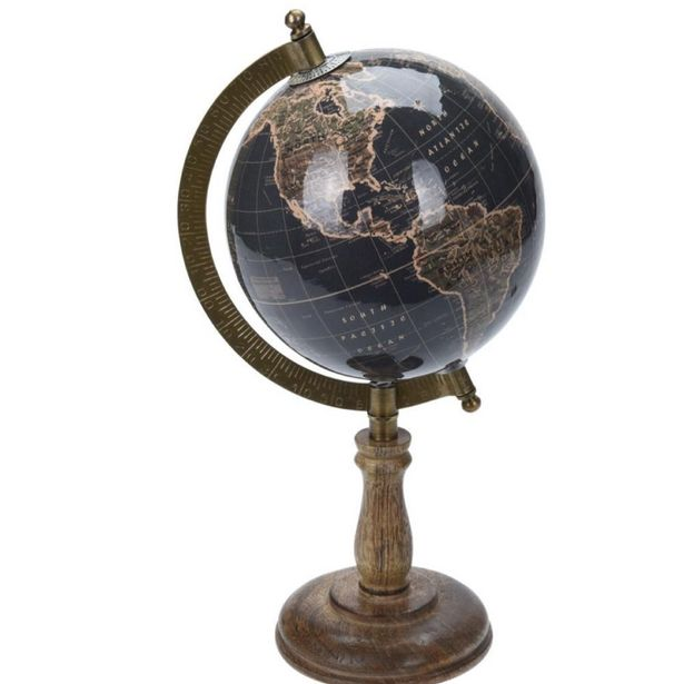 Vintage Style Desktop Globe with Dark Blue Tone offer at £17.49