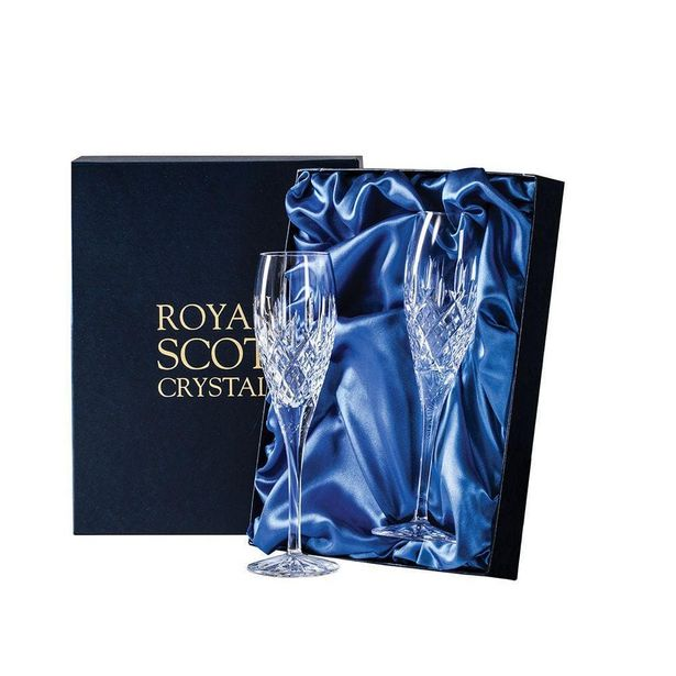 Royal Scot Crystal London Two Champagne Flutes offer at £67.5
