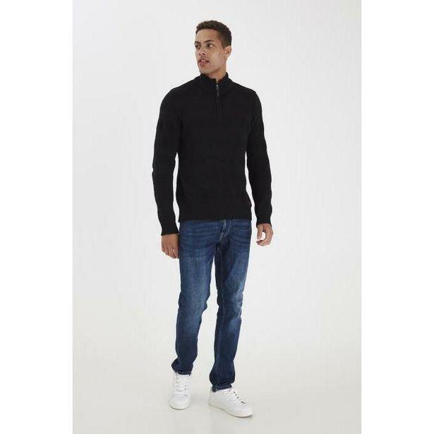 Blend 1/4 Zip Jumper - Black offer at £17.49
