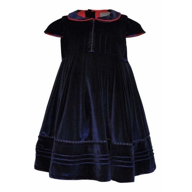 Little Lord and Lady Alexander Velvet Dress - Navy offer at £33.75