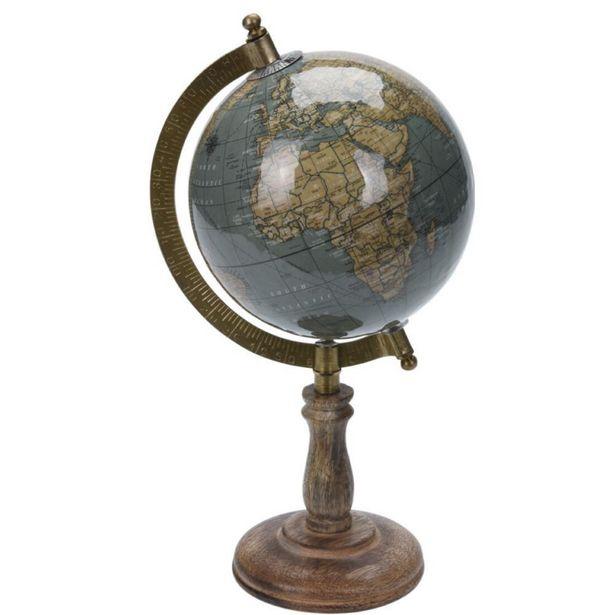 Vintage Style Desktop Globe with Blue Hue offer at £17.49
