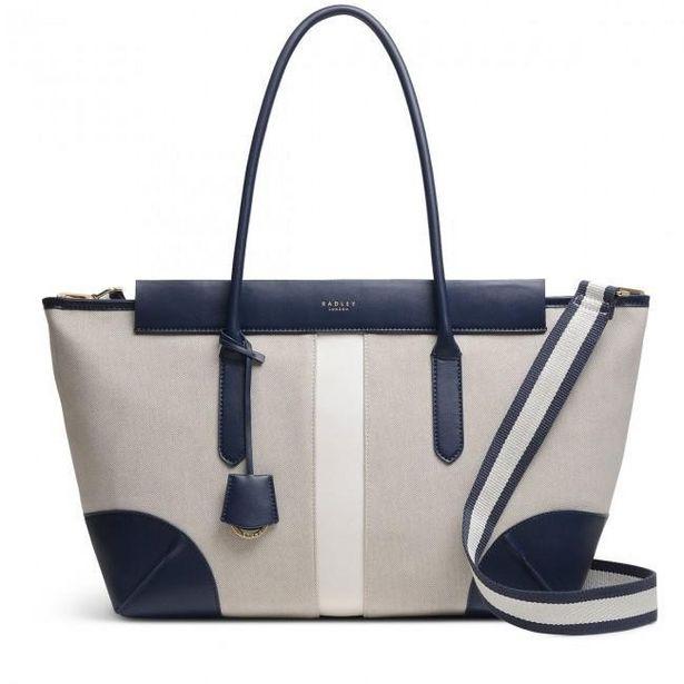 Radley Morris Road Large Zip Top Shoulder Bag - Natural offer at £135.2
