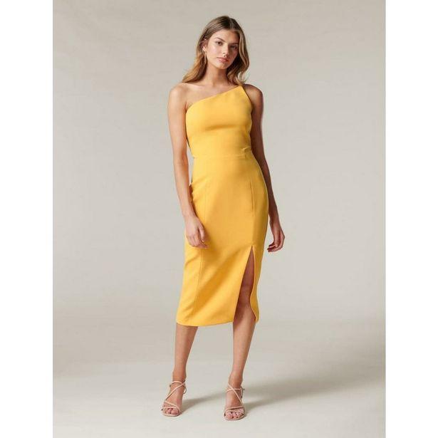 Forever New Franca One Shoulder Midi Dress - Amber offer at £46.4