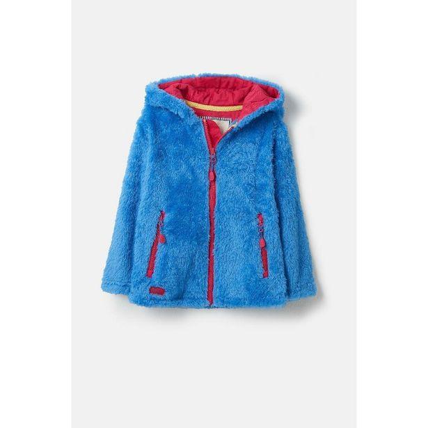 Little Lighthouse Gracie Girls Sherpa Fleece - Cornflower offer at £15