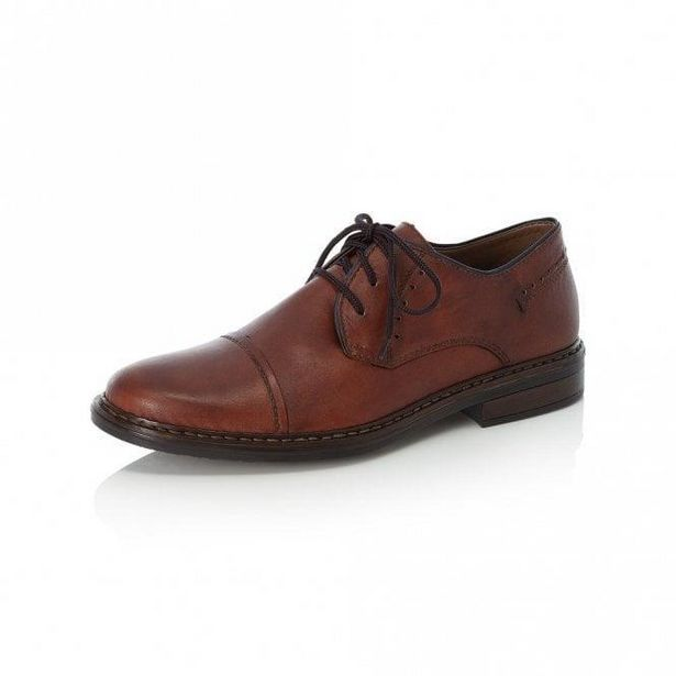 Rieker 17617-24 Men's Brown Lace Up Shoes offer at £36