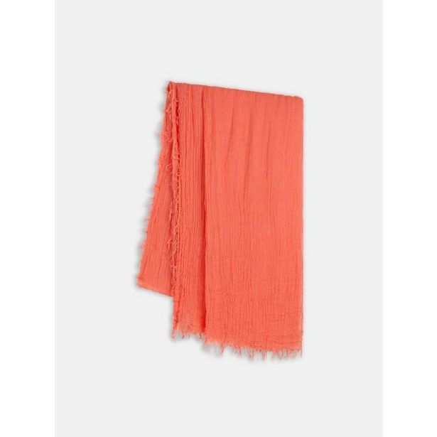 Sandwich Woven Scarf - Hot Coral offer at £15