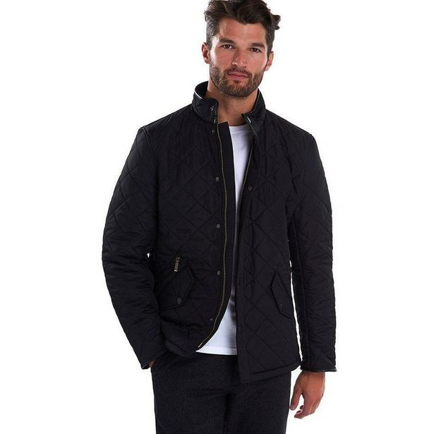 Barbour Powell Quilted Jacket - Black offer at £111.3