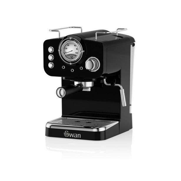SK22110BN Swan Retro Espresso Coffee Machine Black offer at £94.5