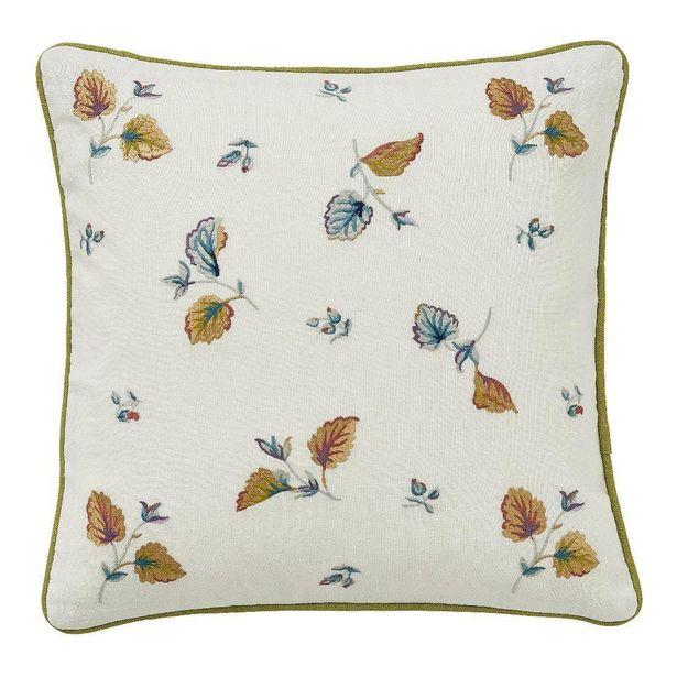 V&A Sweet Geranium Cushion  CHARTREUSE/40CMX40CM offer at £19.2