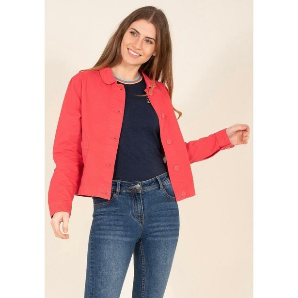 Brakeburn Canvas Jacket - Pink offer at £41.99