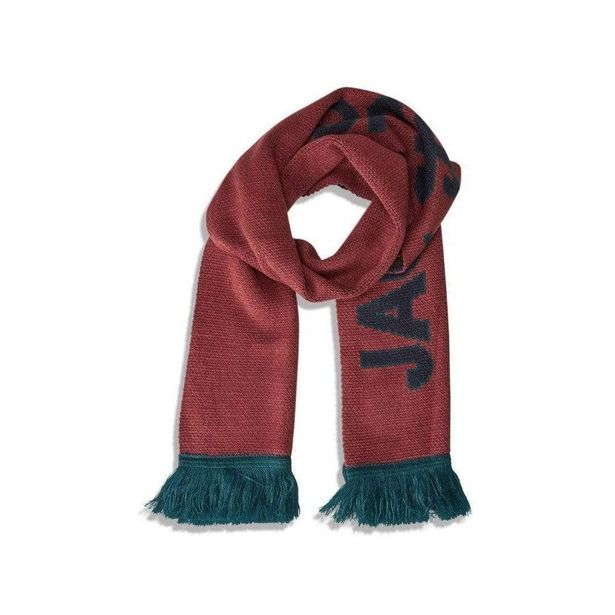 Jack & Jones Mac Knit - Scarf Brick Red offer at £15