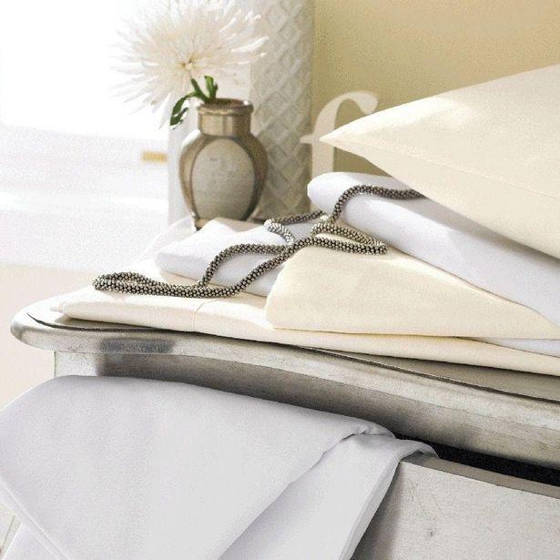 Sanderson Egypt Cotton 600Tc Flat Sheet Superking - Ivory offer at £72