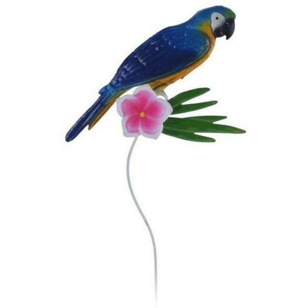 Parrot Garden Pick Metal Ornament - Blue offer at £2.49