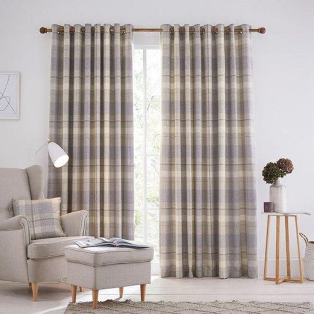"Helena Springfield Nora Lined Curtains 90"" x 54"" - Grape offer at £105"